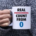 Real programmers count from 0 kubek dla programisty normalny 330 ml