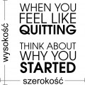 Naklejka ścienna siłownia, when you feel like quitting
