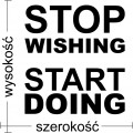 naklejka siłownia stop wishing start doing