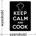 Keep Calm and Cook, naklejka na ścianę do kuchni