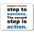 Ambition is the first step to success podkładka