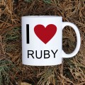 Kubek programisty I love Ruby normalny 330 ml