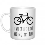 I wheelie love riding my bike kubek
