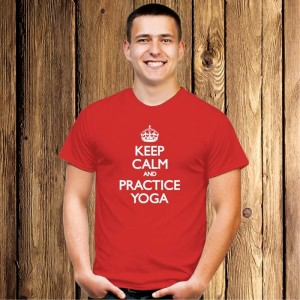 Keep Calm and Practice Yoga koszulka