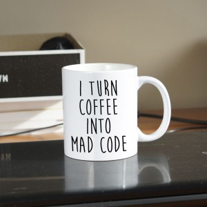 I turn coffee into mad code kubek