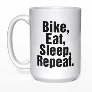 Bike eat sleep repeat kubek
