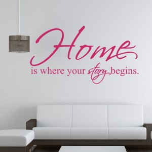 Home is where your story begins naklejka