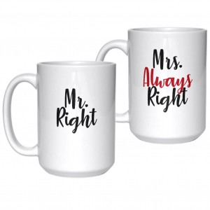 Mr Right Mrs Always Right kubki