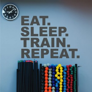 Eat sleep train repeat naklejka