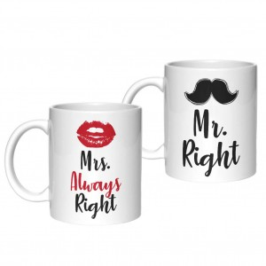 Mrs Always Right Mr Right kubki
