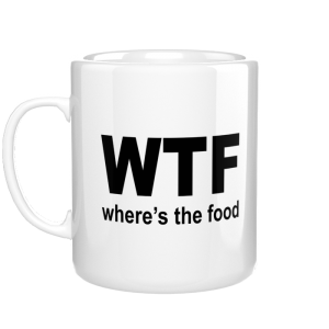 WTF - Where Is Food kubek