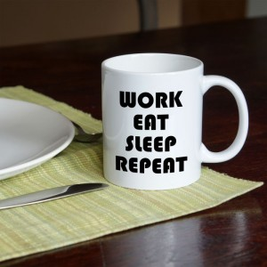 Work Eat Sleep Repeat kubek