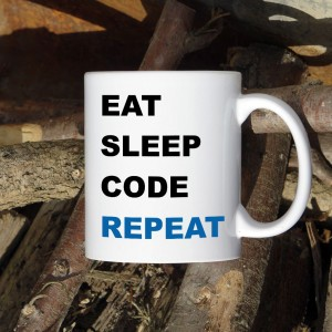 Eat Sleep Code Repeat kubek