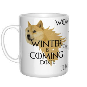 Winter is coming Doge kubek