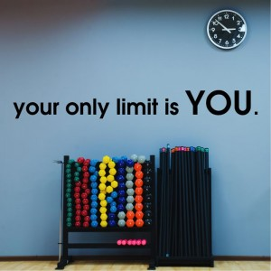 Your only limit is YOU naklejka