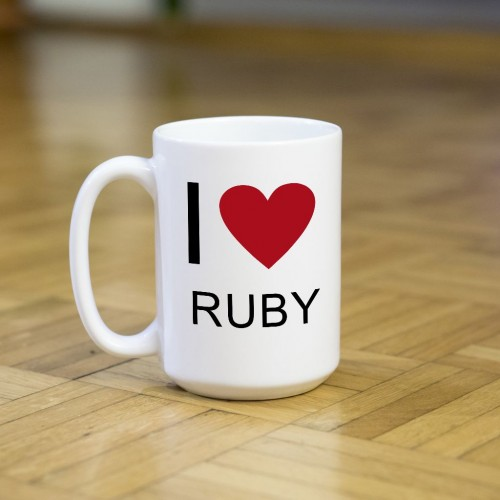 Kubek programisty I love Ruby duży 450 ml