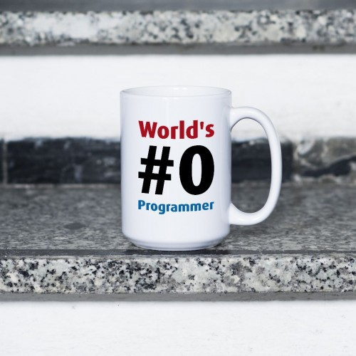 Kubek World's #0 Programmer duży 450 ml