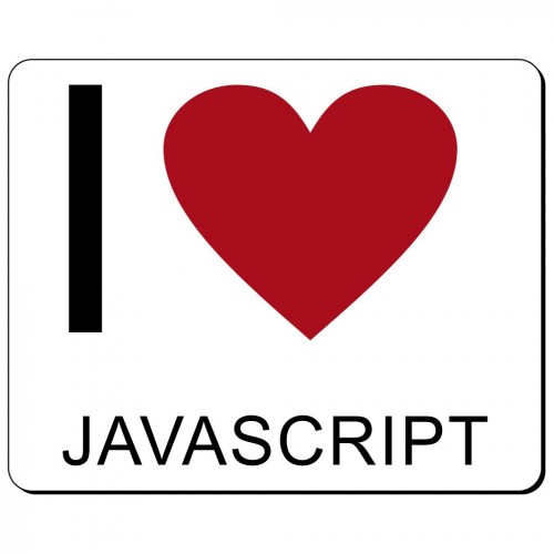 I love Javascript podkładka