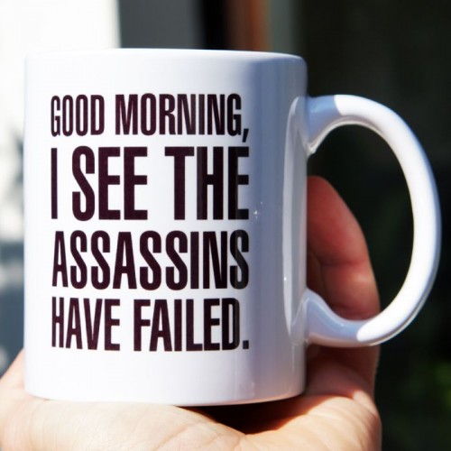 Good morning, I see the assassins have failed kubek standardowy 330ml