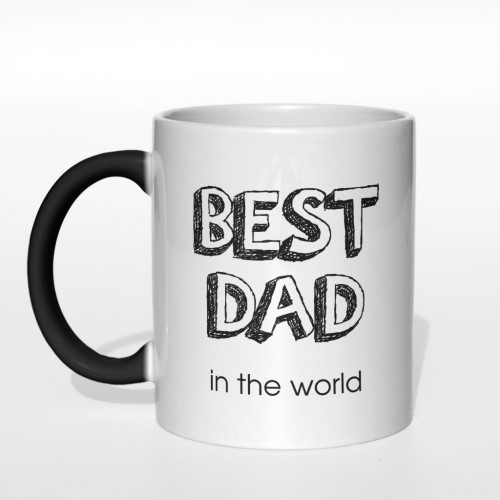 Best Dad in the world kubek magiczny 330 ml