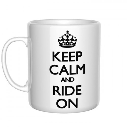 Keep Calm and Ride On kubek rowerzysty