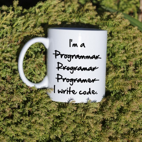 kubek programisty I write code standardowy 330 ml