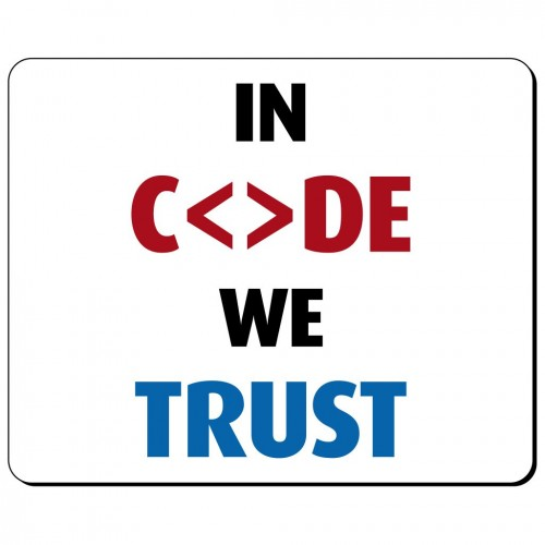 In code we trust podkładka