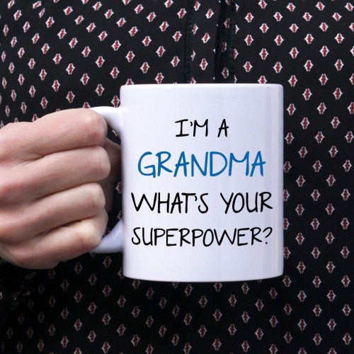 Kubek I'm a grandma, what's your superpower standardowy 330 ml