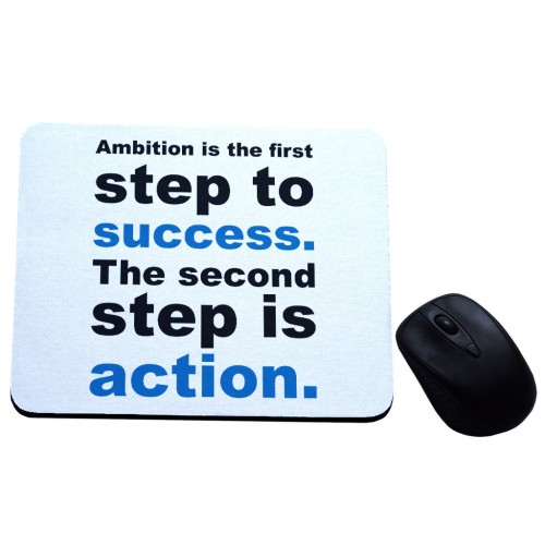 Ambition is the first step to success podkładka z nadrukiem